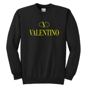 Valentino Logo Gold Premium Edition Youth Crewneck Sweatshirt