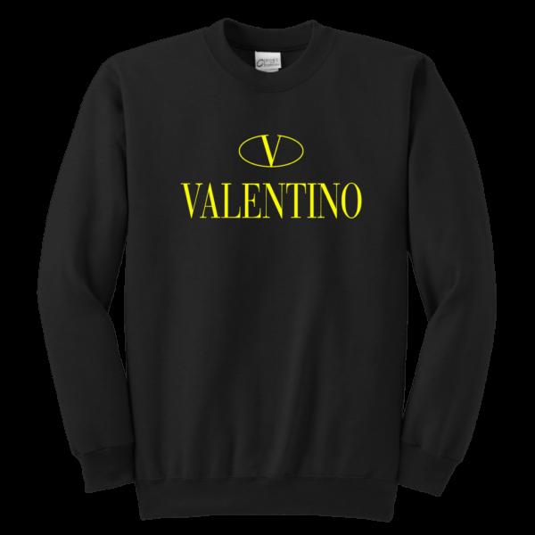 Valentino Logo Gold Premium Edition Youth Crewneck Sweatshirt