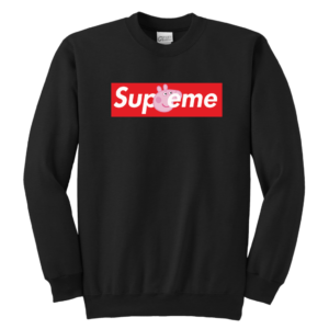 Supreme Peppa Pig Youth Crewneck Sweatshirt