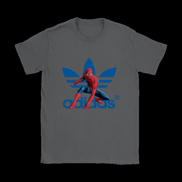 Spiderman Adidas Marvel Logo Womens T-Shirt