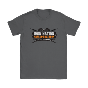 Iron Nation Harley Davidson Logo Womens T-Shirt