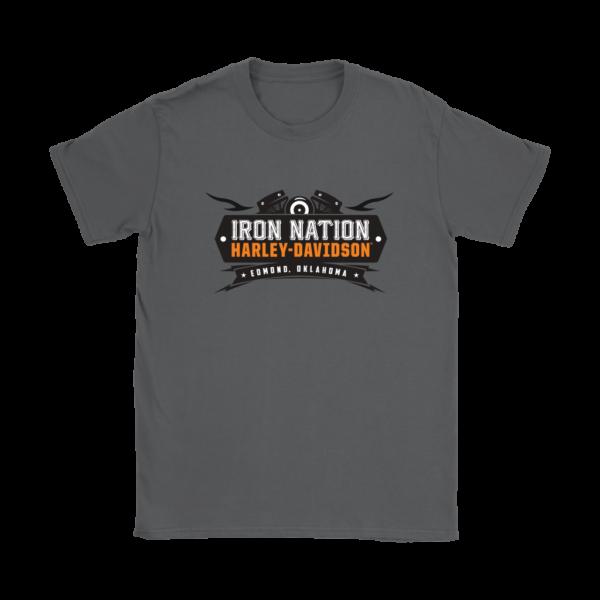 Iron Nation Harley Davidson Logo Womens T-Shirt
