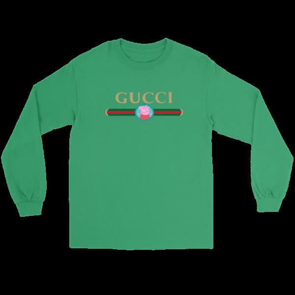 Peppa Pig Gucci Logo Premium Long Sleeve Tee
