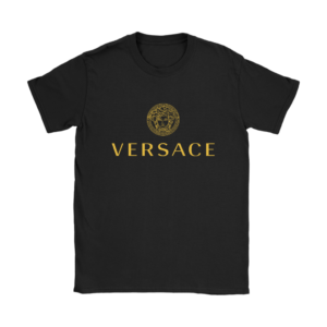 Versace Gold Logo Womens T-Shirt