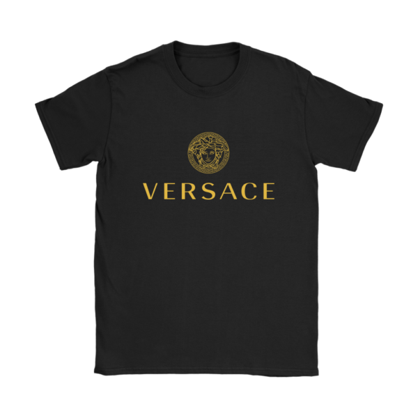 Versace Gold Logo Womens T-Shirt