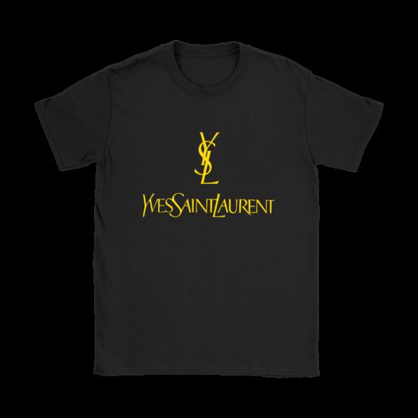 YSL Yves Saint Laurent Logo Womens T-Shirt
