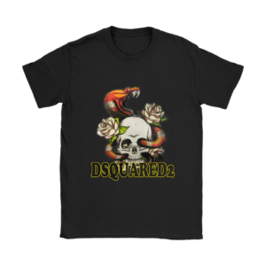 Dsquared2 Snake Skull And Rose Womens T-Shirt