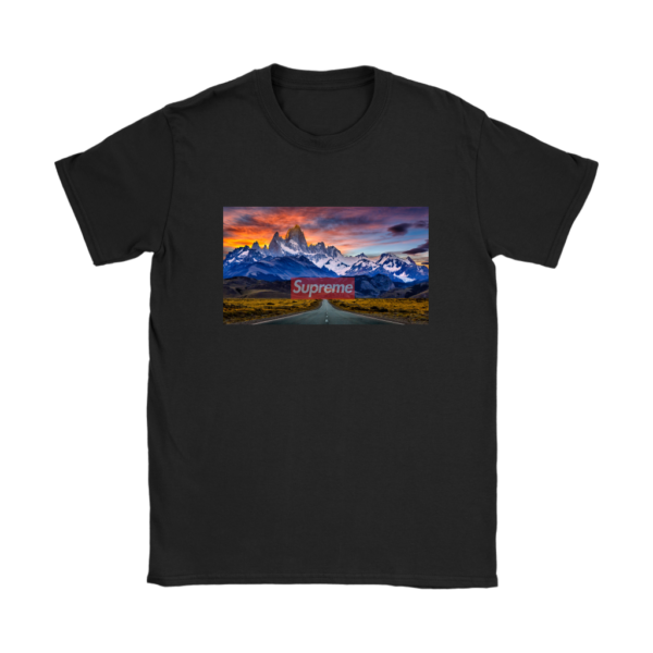 Supreme Patagonia Mountains Womens T-Shirt