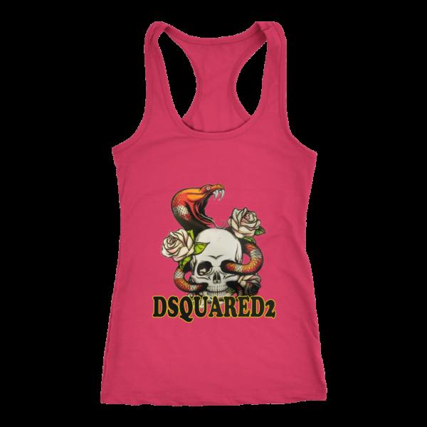 Dsquared2 Snake Skull And Rose Women's Tank Top