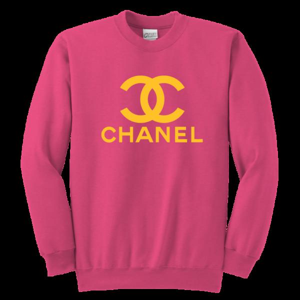 CoCo Chanel Logo Youth Crewneck Sweatshirt