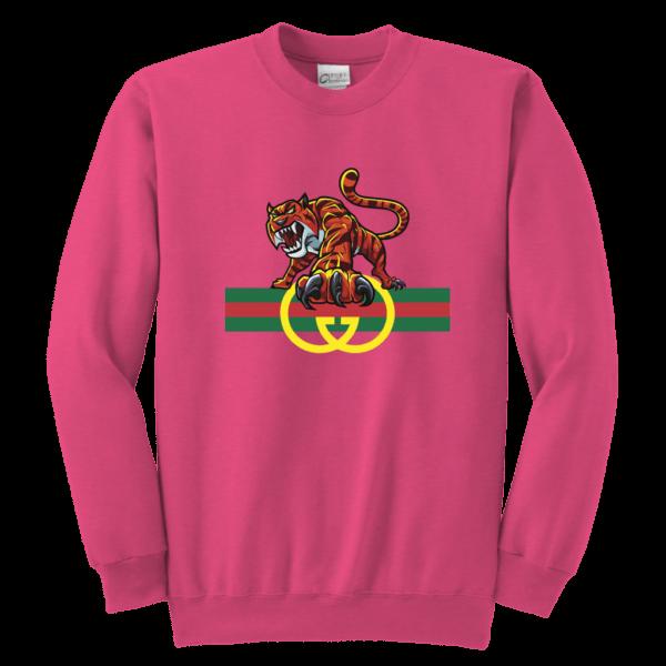 Tiger Gucci Logo Youth Crewneck Sweatshirt
