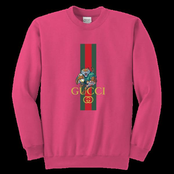 Gucci Tiger Rugby Logo Premium Youth Crewneck Sweatshirt