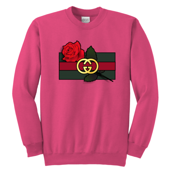 Gucci Rose Printed Youth Crewneck Sweatshirt