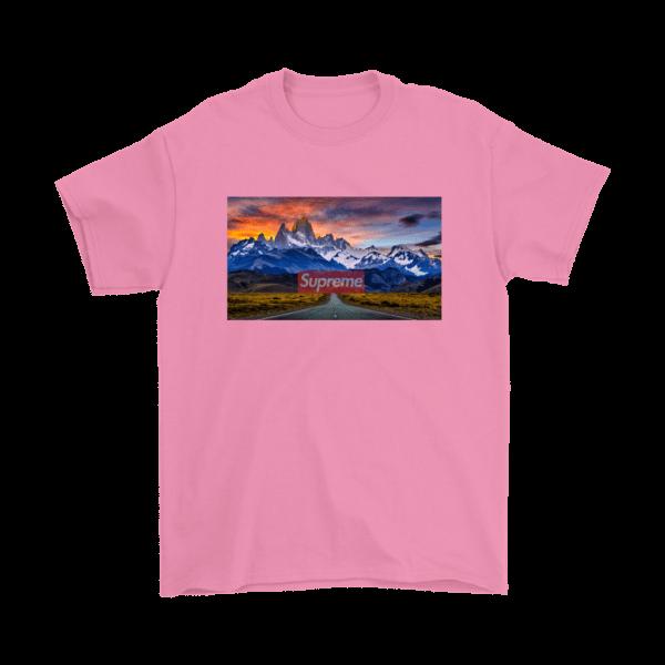Supreme Patagonia Mountains Mens T-Shirt
