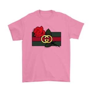Gucci Rose Printed Mens T-Shirt