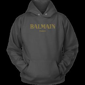 Balmain Gold Logo Unisex Hoodie