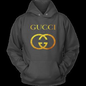 Gucci Gold Logo Unisex Hoodie