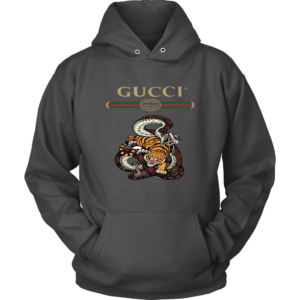 Gucci Logo Edition Tiger Vs Snake Unisex Hoodie