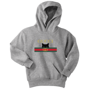 Gucci Black Cat Secret Logo Youth Hoodie