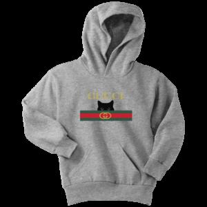 Gucci Black Cat Secret Logo Youth Hoodie