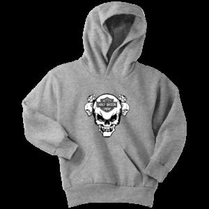 Harley Davidson Skull Youth Hoodie