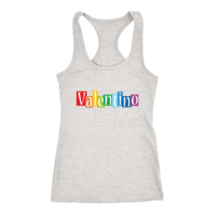 Valentino Logo Rainbow Womens Tank Top