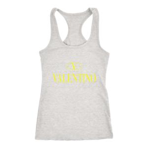 Valentino Logo Gold Premium Edition Womens Tank Top