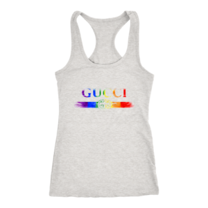 Gucci Rainbow LGBT Style Logo Limited Edition Women's Tank Top