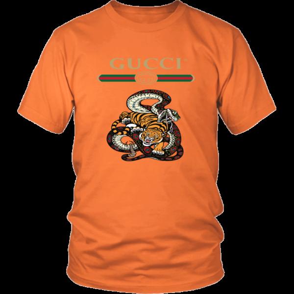 Gucci Logo Edition Tiger Vs Snake Unisex Shirt
