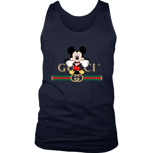 Gucci Logo Mickey Mouse Clubhouse Disney Mens Tank Top