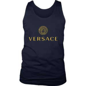 Versace Gold Logo Mens Tank Top