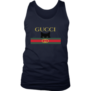 Gucci Black Cat Secret Logo Mens Tank Top