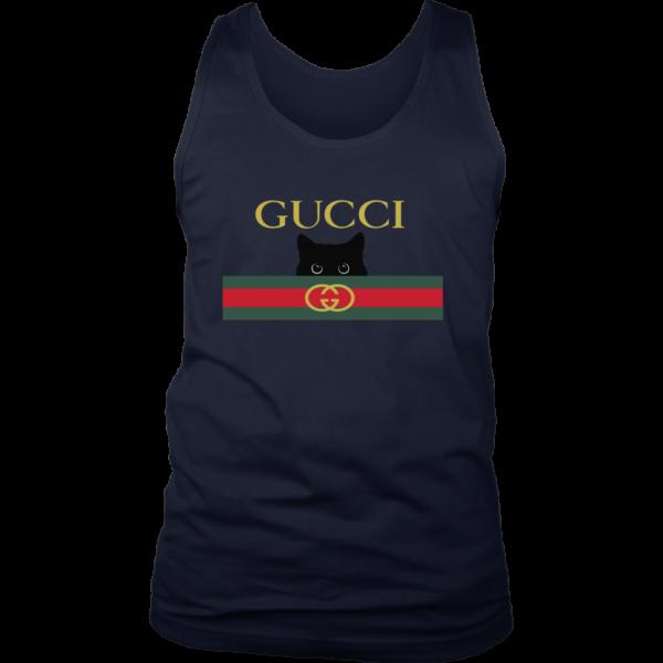 Gucci Black Cat Secret Logo Mens Tank Top