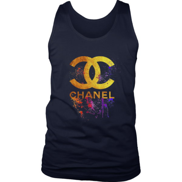 CoCo Chanel Gold Logo Limited Edition Mens Tank Top