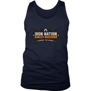 Iron Nation Harley Davidson Logo Mens Tank Top