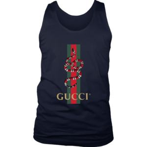 Gucci Snake Logo Mens Tank Top