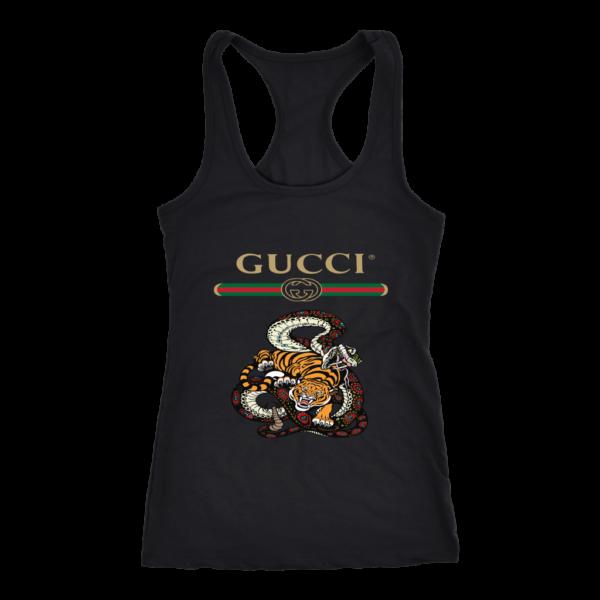 Gucci Logo Edition Tiger Vs Snake Women's Tank Top
