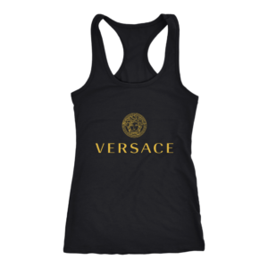Versace Gold Logo Women's Tank Top