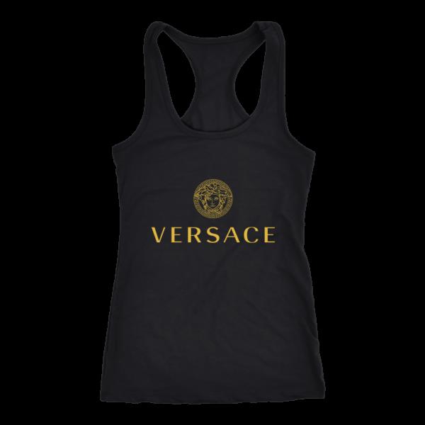 Versace Gold Logo Women's Tank Top