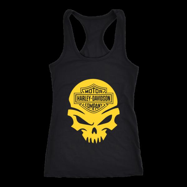 Harley Davidson Gold Skull Women's Tank Top