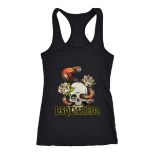 Dsquared2 Snake Skull And Rose Women's Tank Top