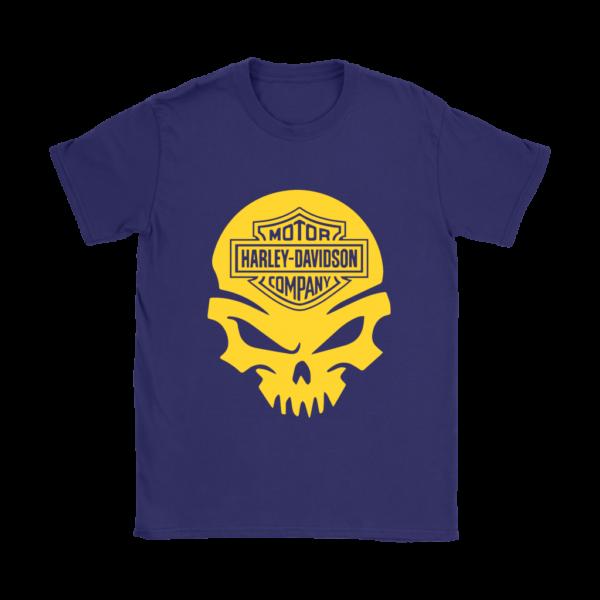 Harley Davidson Gold Skull Womens T-Shirt