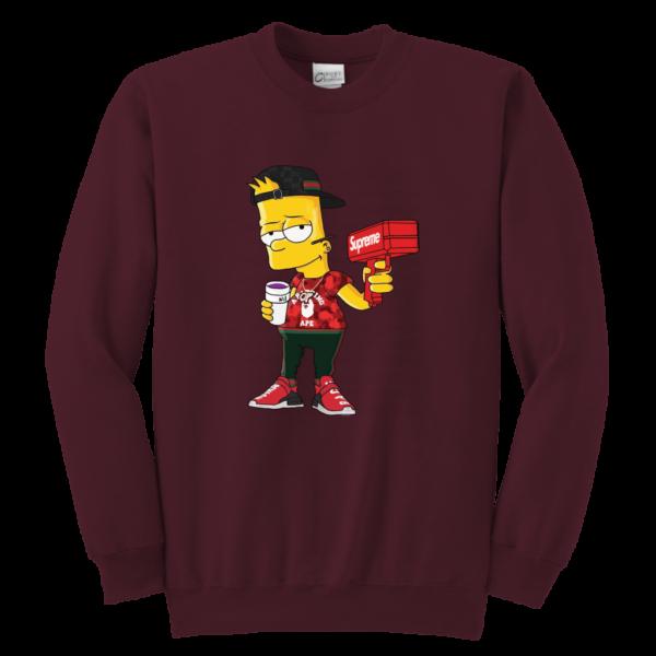 Bart Simpson Gucci Limited Edition Youth Crewneck Sweatshirt