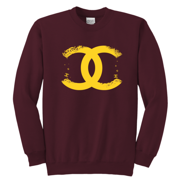CoCo Chanel Logo Premium Youth Crewneck Sweatshirt