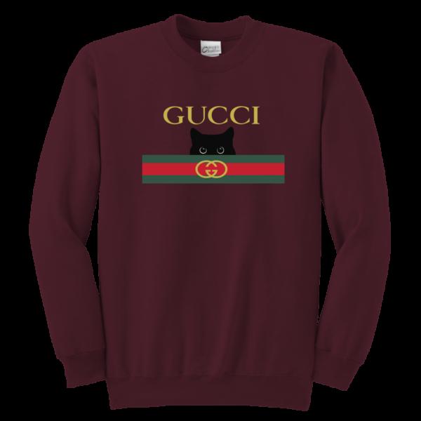 Gucci Black Cat Secret Logo Youth Crewneck Sweatshirt