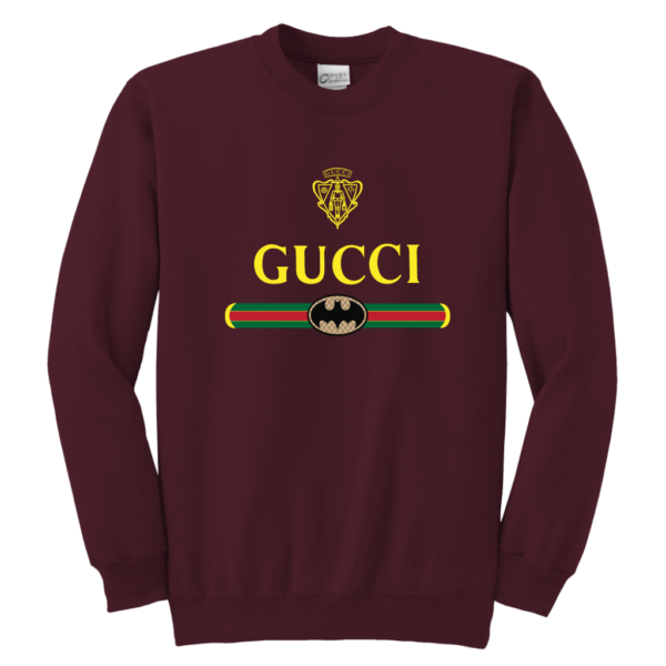Gucci Logo With Batman Youth Crewneck Sweatshirt