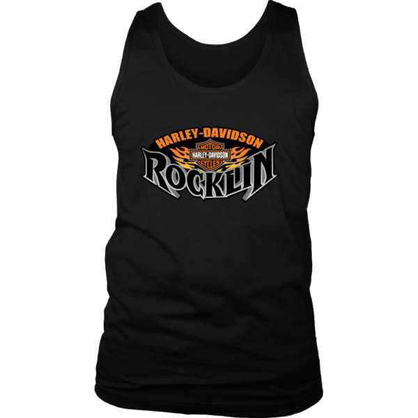 Harley Davidson Of Rocklin Mens Tank Top