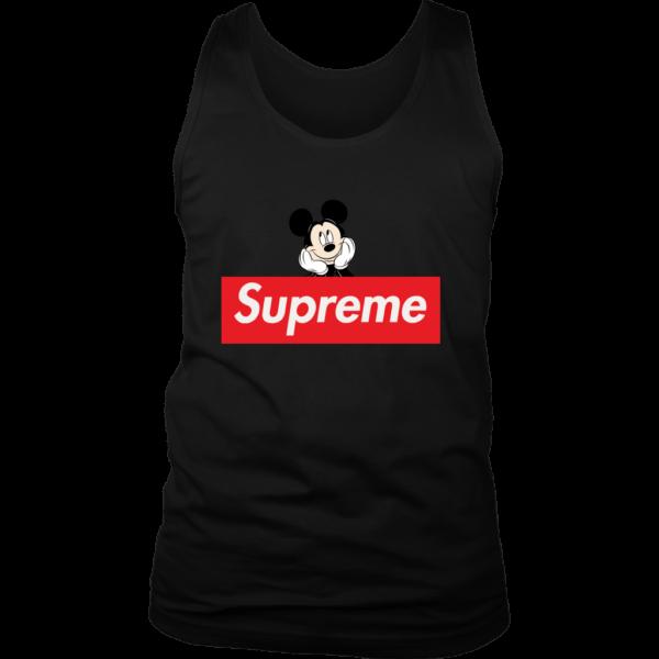 Supreme Mickey Mouse Logo Premium Mens Tank Top