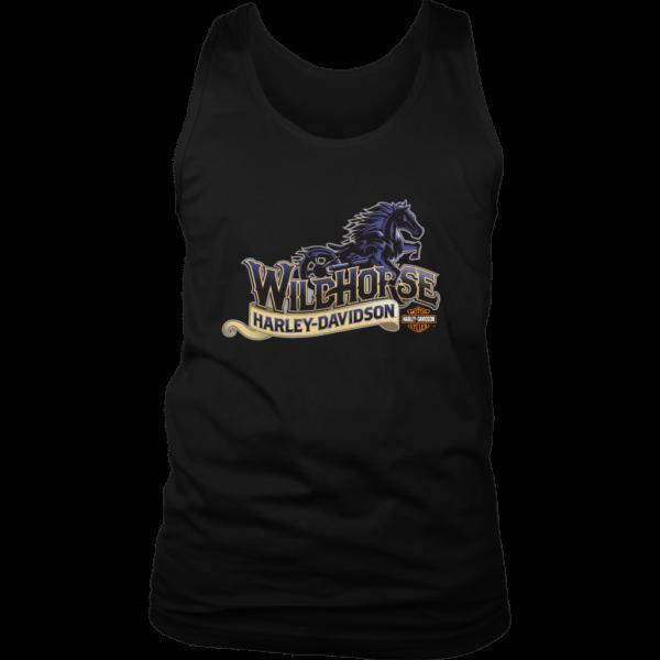 Wildhorse Harley Davidson Logo Mens Tank Top
