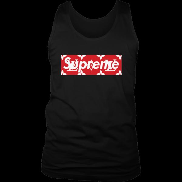 Supreme x Louis Vuitton Logo Mens Tank Top
